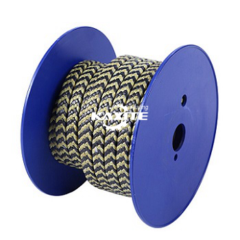 Graffit PTFE ac Aramid Fiber mewn Sebra Braided Packing